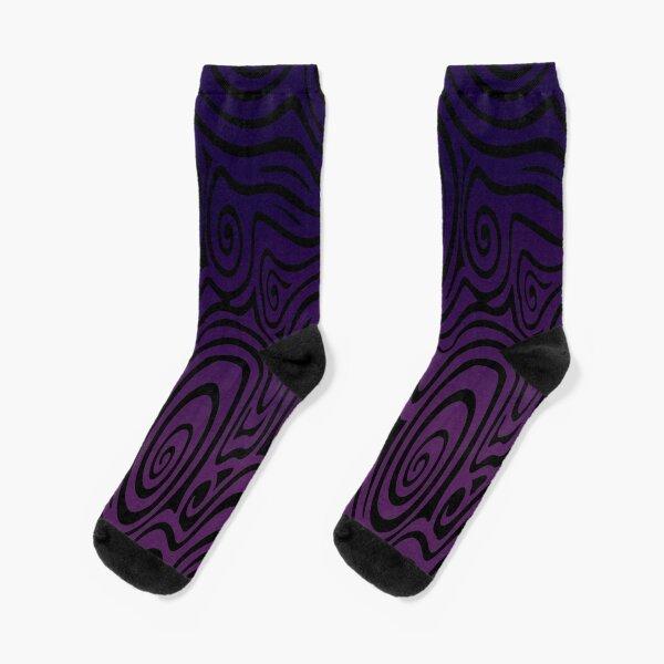 Deep Purple Swirl Pattern  Socks