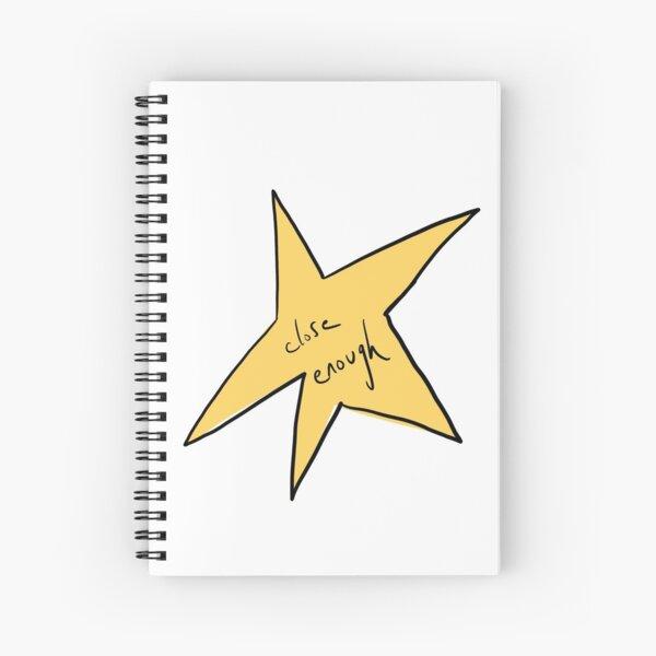 Close Enough Gold Star Spiral Notebook