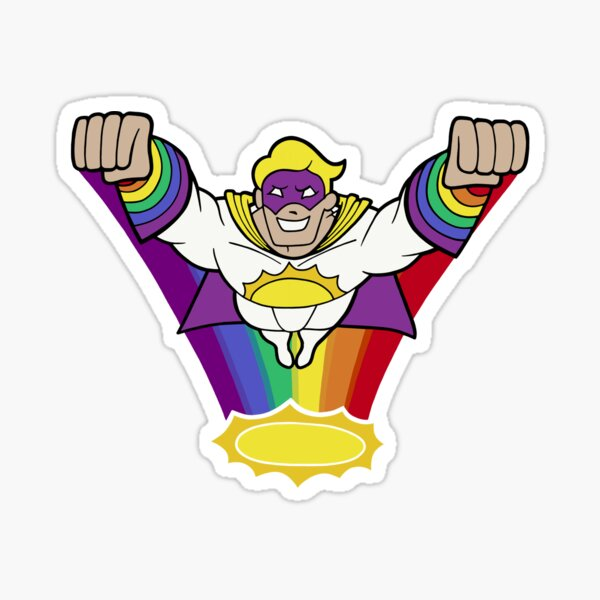 Captain Sunshine Saves the Day Sticker