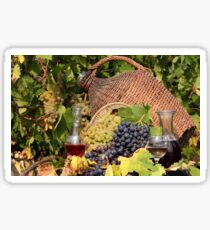 vineyard red and white wine  Sticker