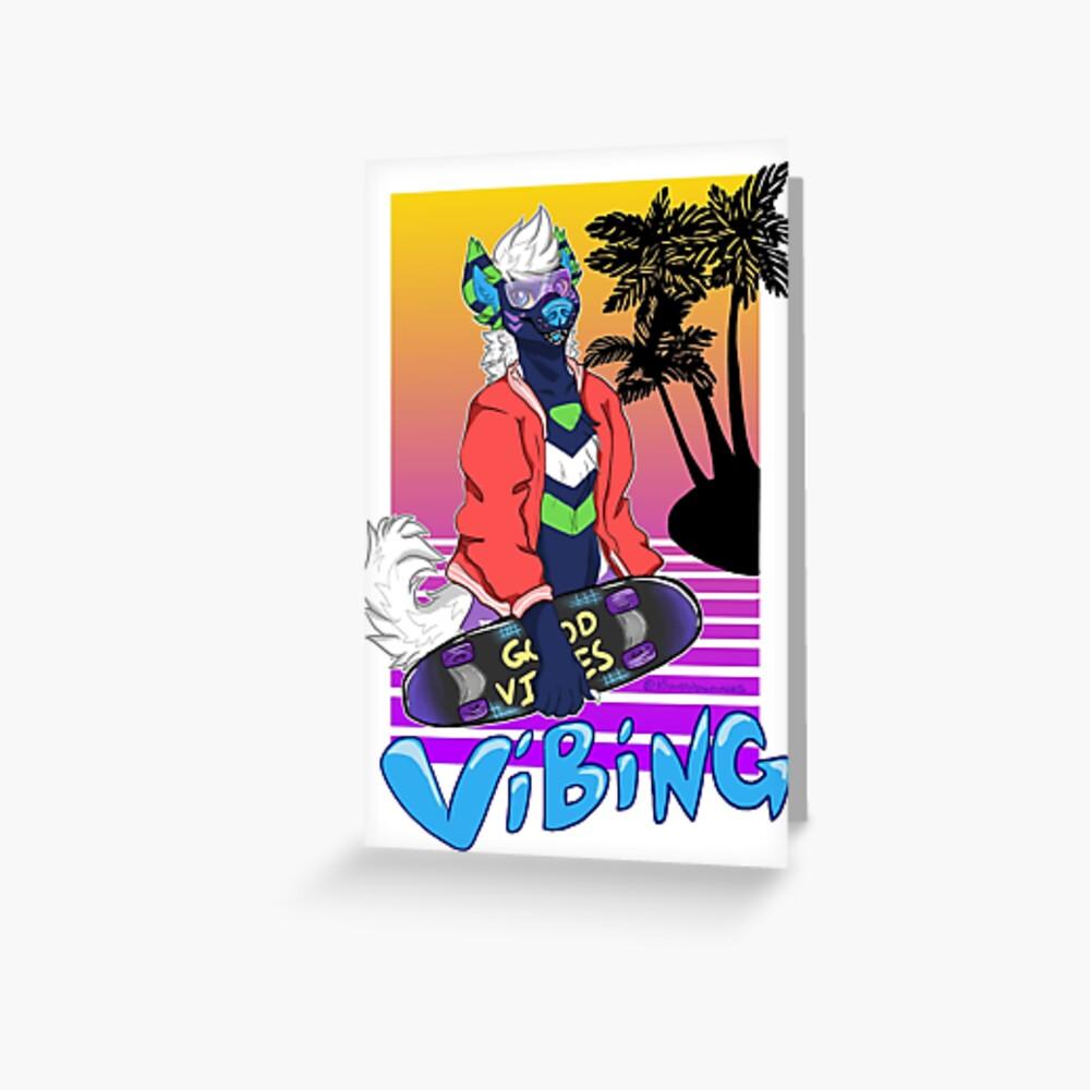 Vaporwave Vibing  Greeting Card