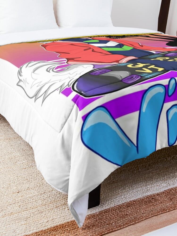 Alternate view of Vaporwave Vibing  Comforter