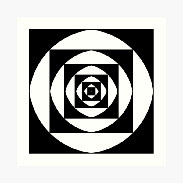 квадратный, square, quadratic, quadrate, foursquare, прямоугольный, rectangular, square, orthogonal, rightabout, right-angled Art Print