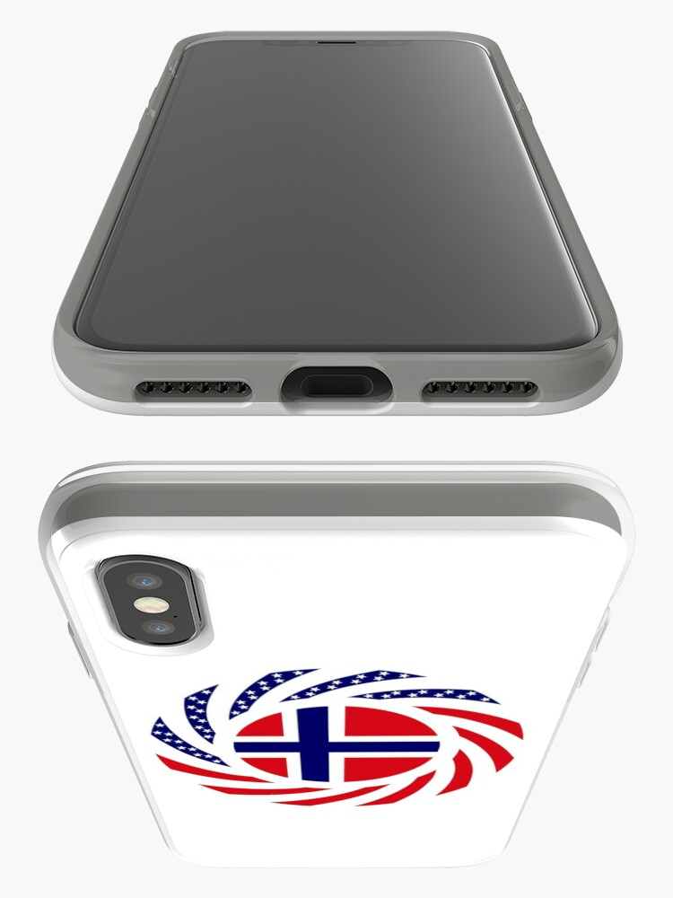 Alternate view of Norwegian American Multinational Patriot Flag Series 1.0 iPhone Case & Cover