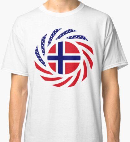 Norwegian American Multinational Patriot Flag Series 1.0 Classic T-Shirt