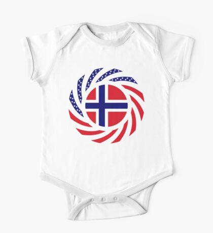 Norwegian American Multinational Patriot Flag Series 1.0 Kids Clothes