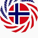 Norwegian American Multinational Patriot Flag Series 1.0 by Carbon-Fibre Media