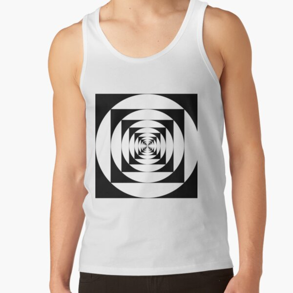 A square is inscribed in a circle and a circle is inscribed in a square Tank Top