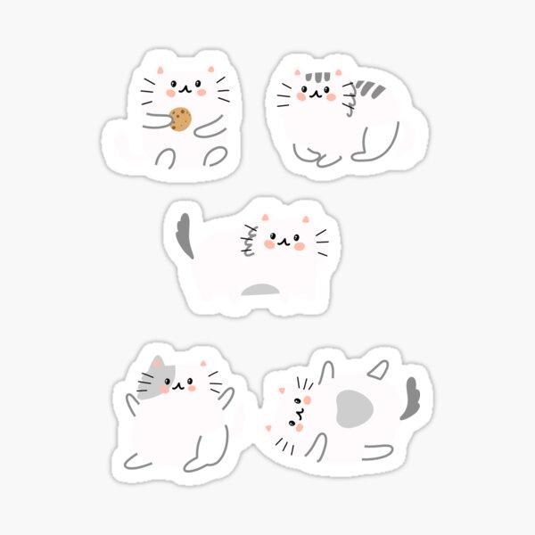Lindo paquete de gatos Pegatina