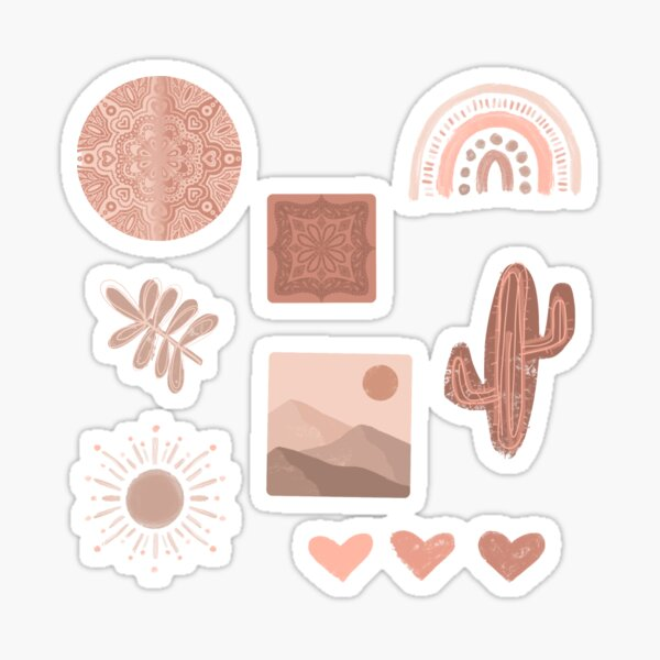 Pink terracotta bohemian  Sticker