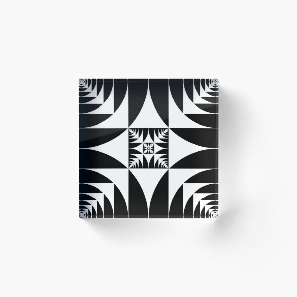 A square is inscribed in a circle and a circle is inscribed in a square Acrylic Block
