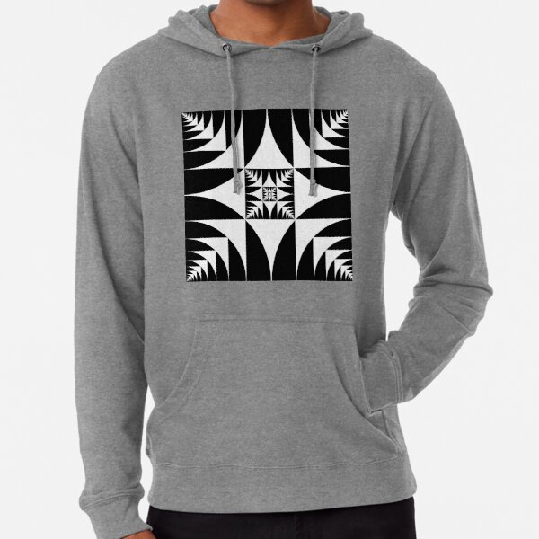 A square is inscribed in a circle and a circle is inscribed in a square Lightweight Hoodie