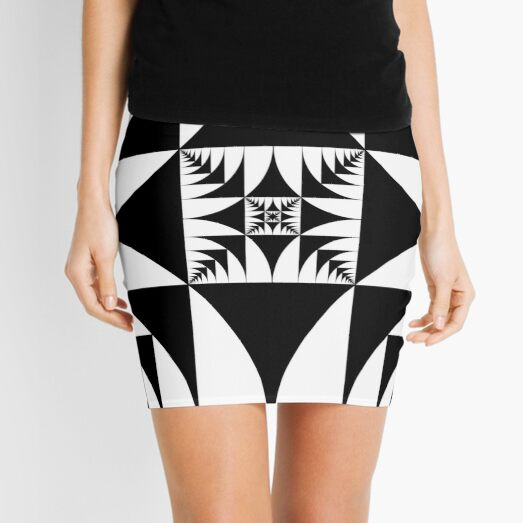 Emblem: A square is inscribed in a circle and a circle is inscribed in a square Mini Skirt