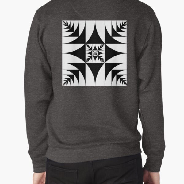 Emblem: A square is inscribed in a circle and a circle is inscribed in a square Pullover Sweatshirt