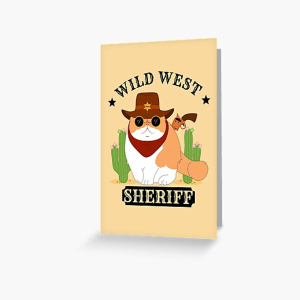 Sheriff Exotic Shorthair Cat Greeting Card