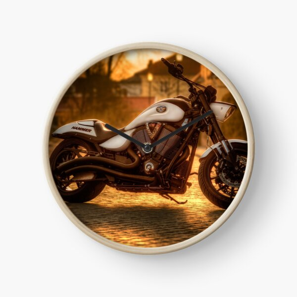 Motorcycle theme Clock