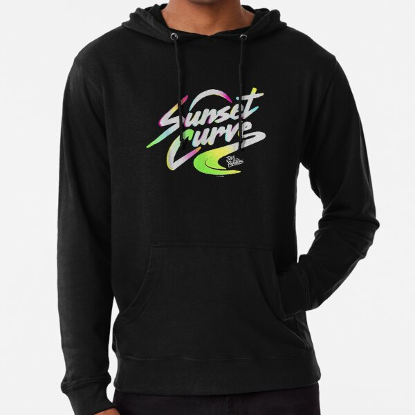 Sunset_Curve_logo_gifts Sudadera ligera con capucha