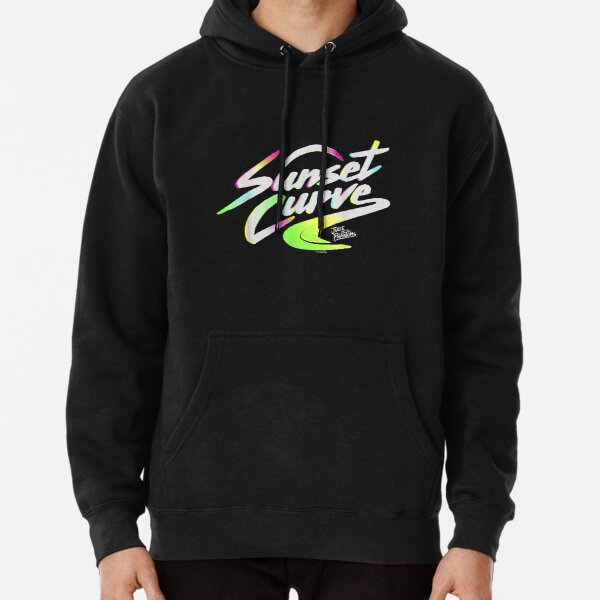 Sunset_Curve_logo_gifts Pullover Hoodie