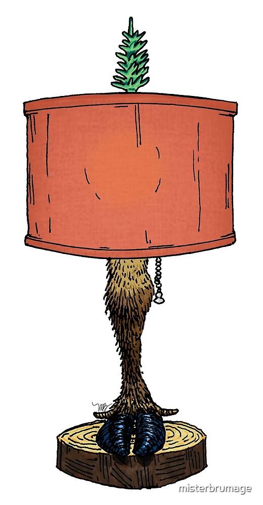 Reindeer or Caribou Leg Lamp by misterbrumage