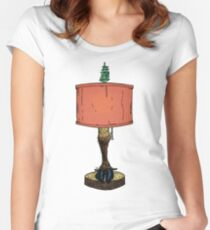 Reindeer or Caribou Leg Lamp Women's Fitted Scoop T-Shirt