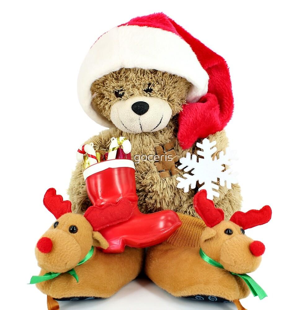 teddy-bear Santa Claus by goceris