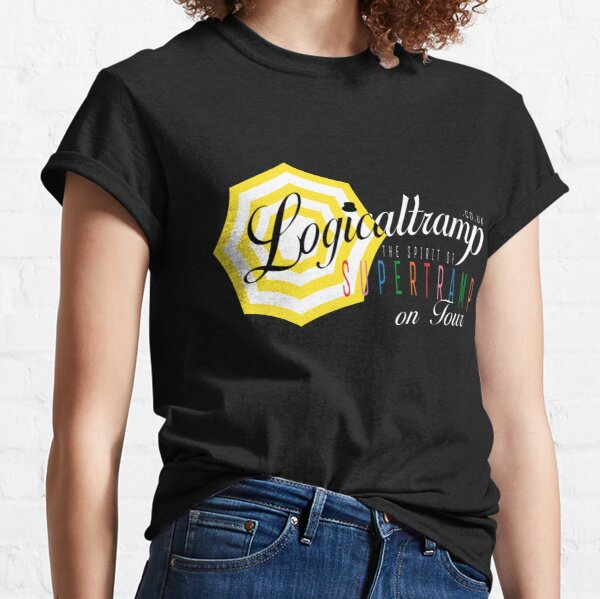 "Logicaltramp's logo ""on tour"" (white) Classic T-Shirt"
