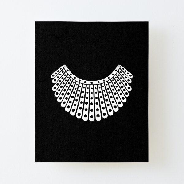 Ruth Bader Ginsburg Dissent Collar Canvas Mounted Print