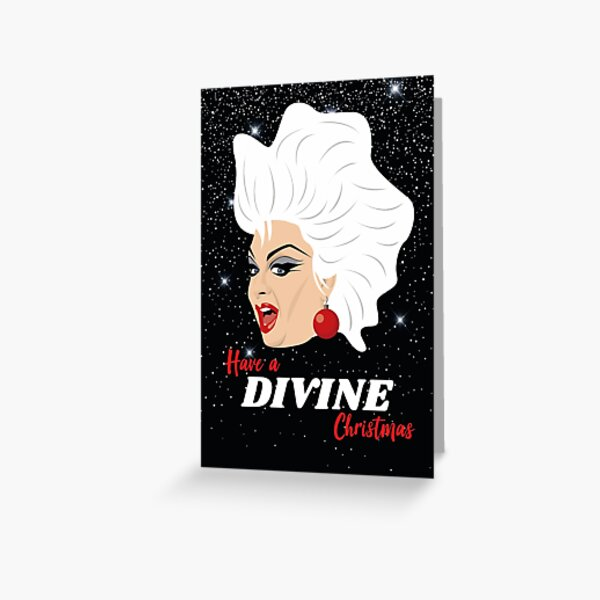 Divine Christmas Card Greeting Card