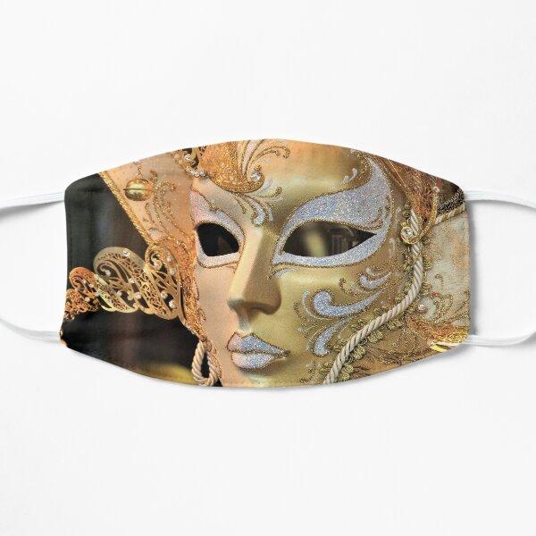 Masque vénitien, or / blanc Masque sans plis