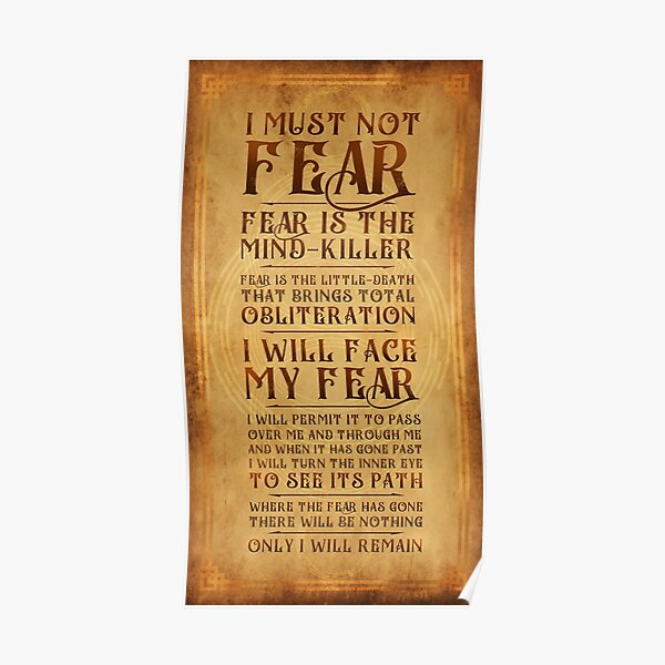 The Litany Against Fear v2 Poster
