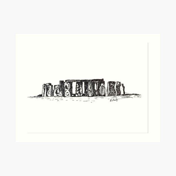 Stonehenge - Spiritual Home of the Druids  Art Print