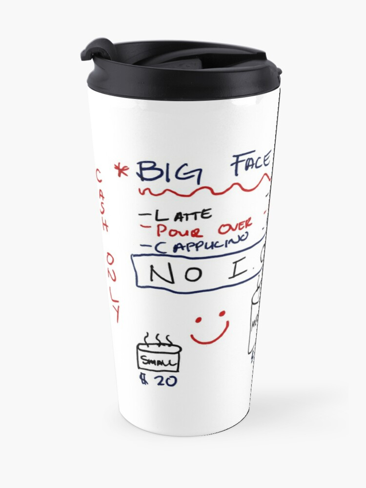 Alternate view of Big Face Coffee Travel Mug