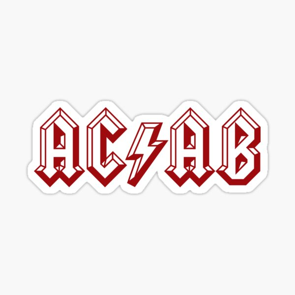AC/DC ACAB Sticker