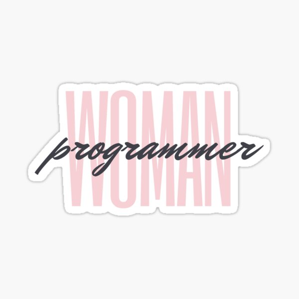 Woman programmer simple pink Sticker