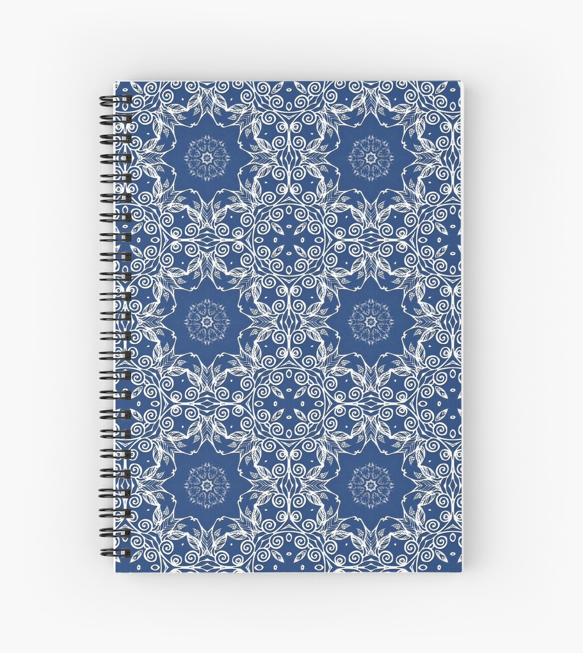 white floral pattern by kanvisstyle