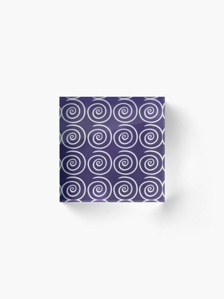 Alternate view of Purple Swirls Acrylic Block