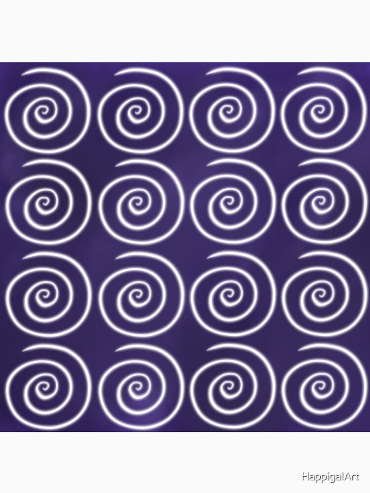 Purple Swirls by HappigalArt
