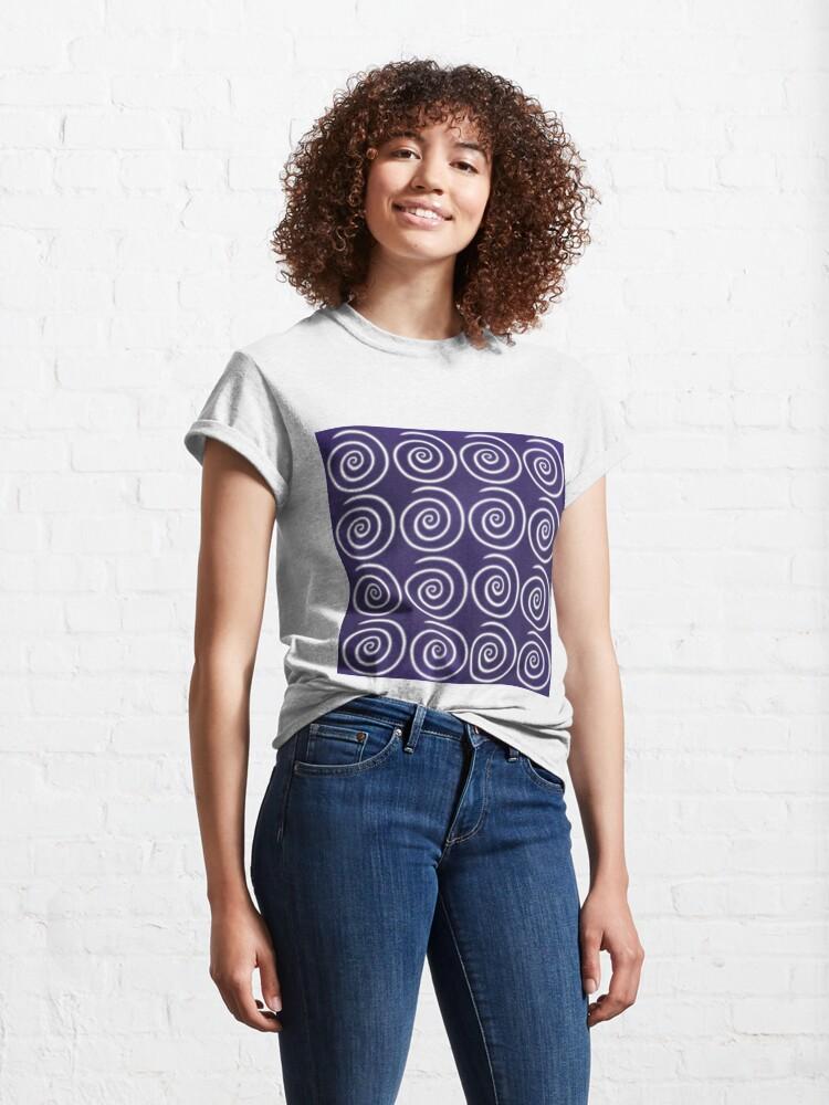 Alternate view of Purple Swirls Classic T-Shirt