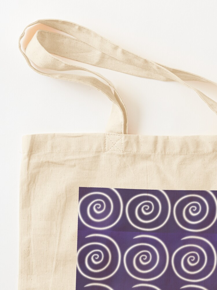 Alternate view of Purple Swirls Tote Bag
