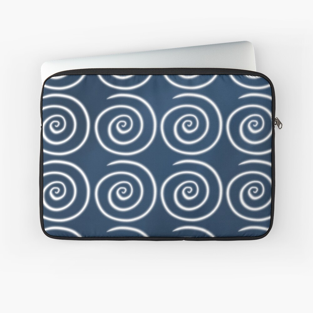 Blue Swirls Laptop Sleeve