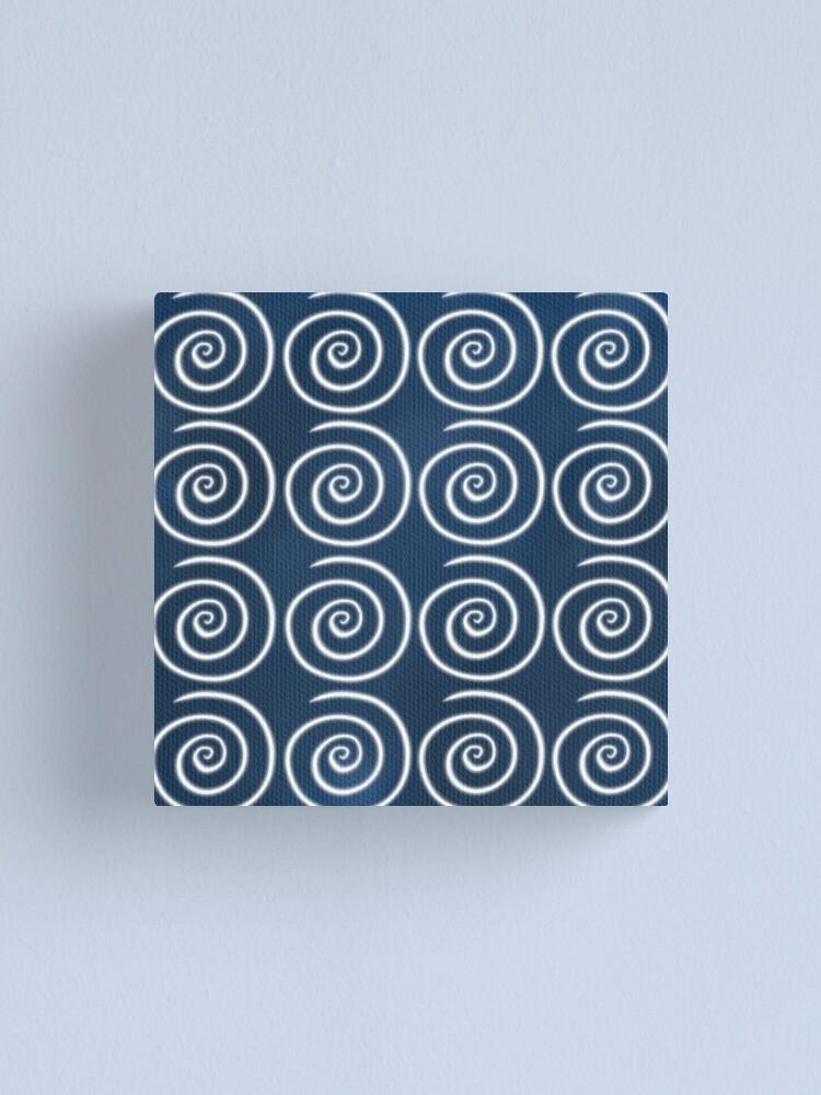 Alternate view of Blue Swirls Canvas Print