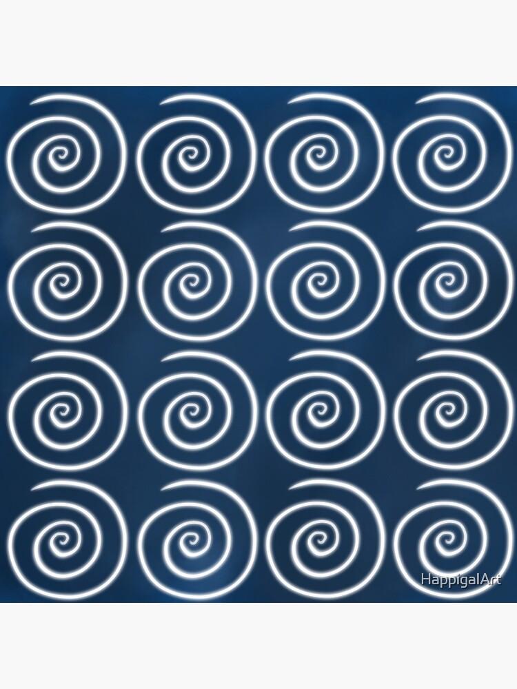 Blue Swirls by HappigalArt