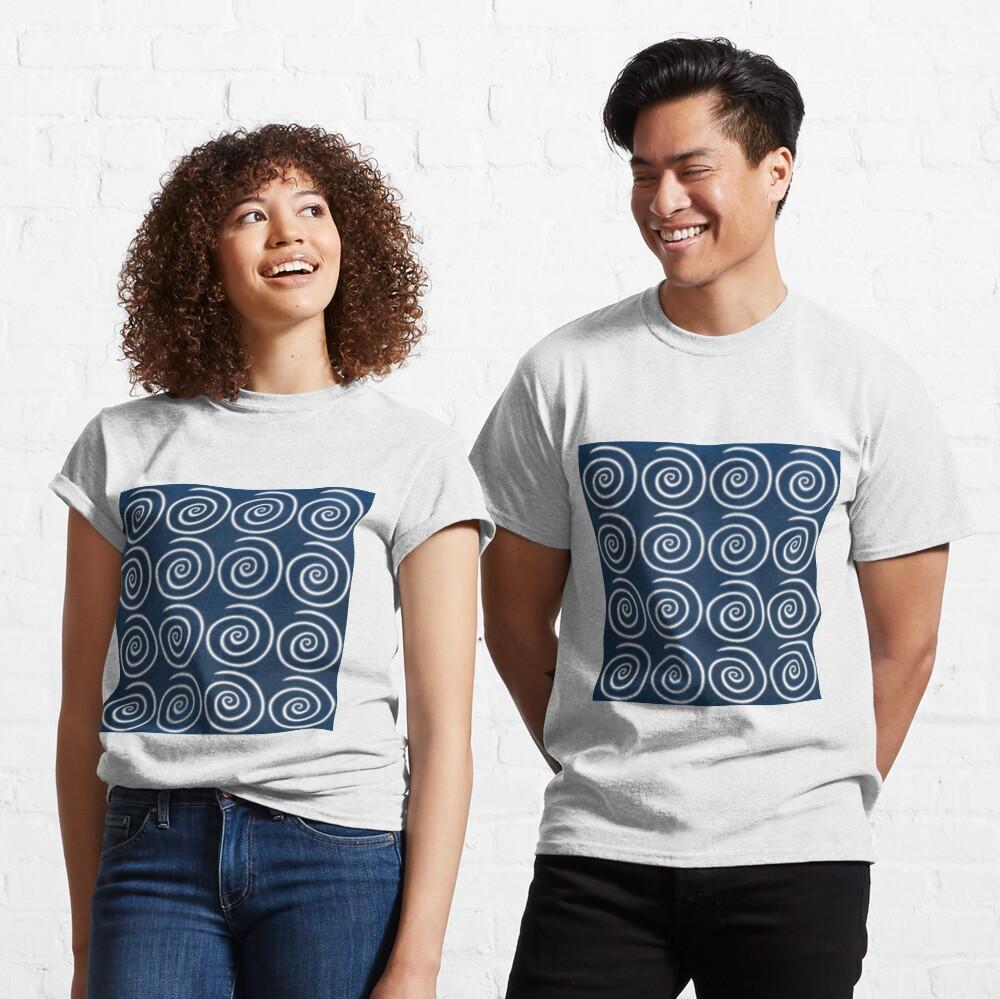 Blue Swirls Classic T-Shirt