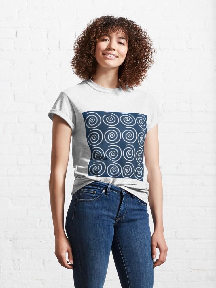Alternate view of Blue Swirls Classic T-Shirt