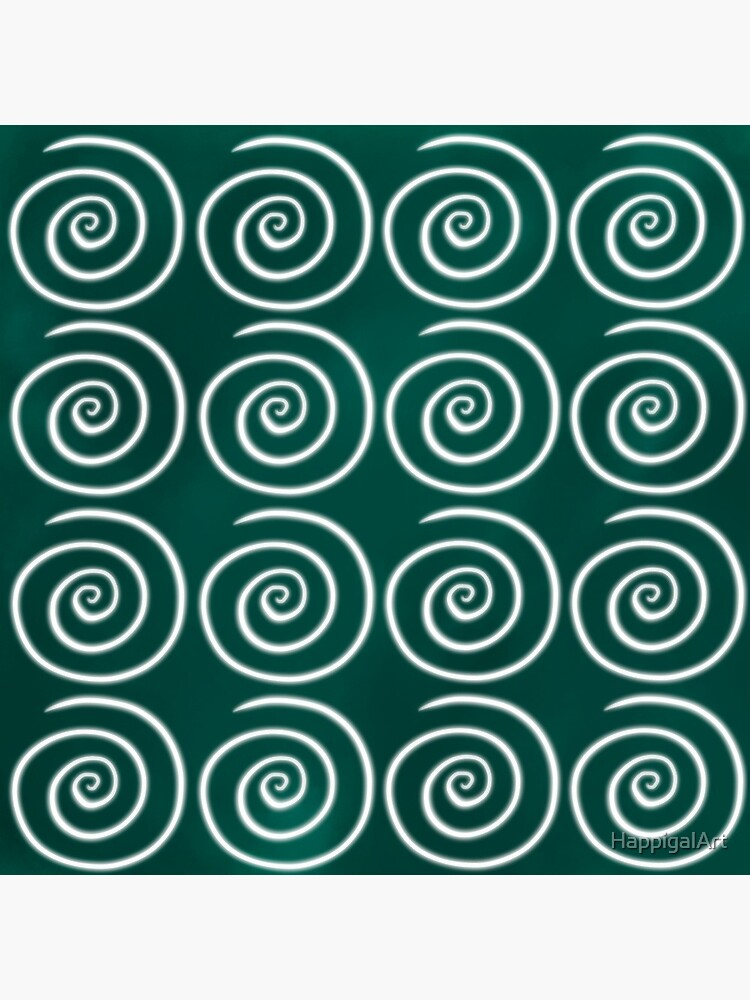 Green Swirls by HappigalArt