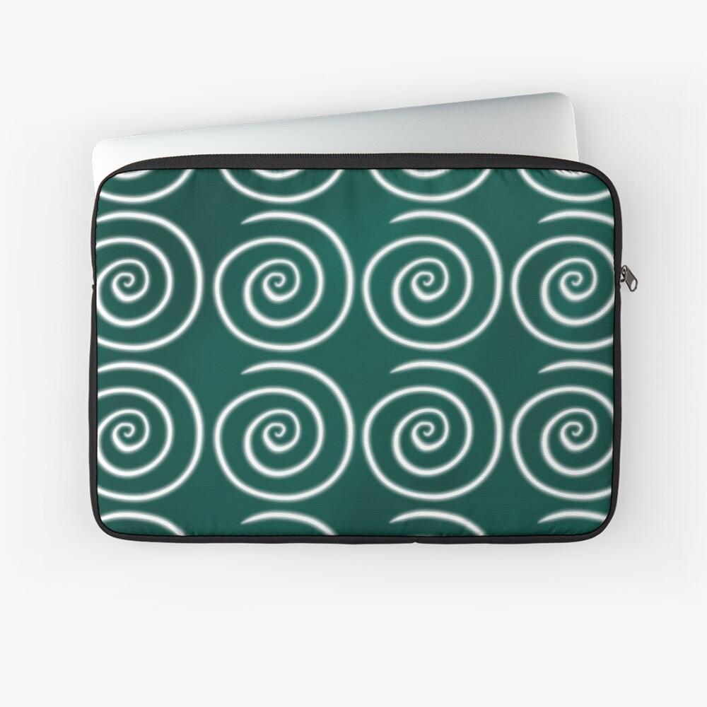 Green Swirls Laptop Sleeve