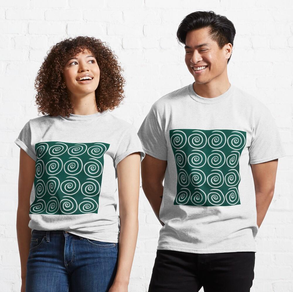 Green Swirls Classic T-Shirt