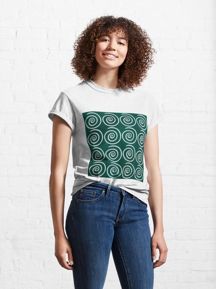 Alternate view of Green Swirls Classic T-Shirt
