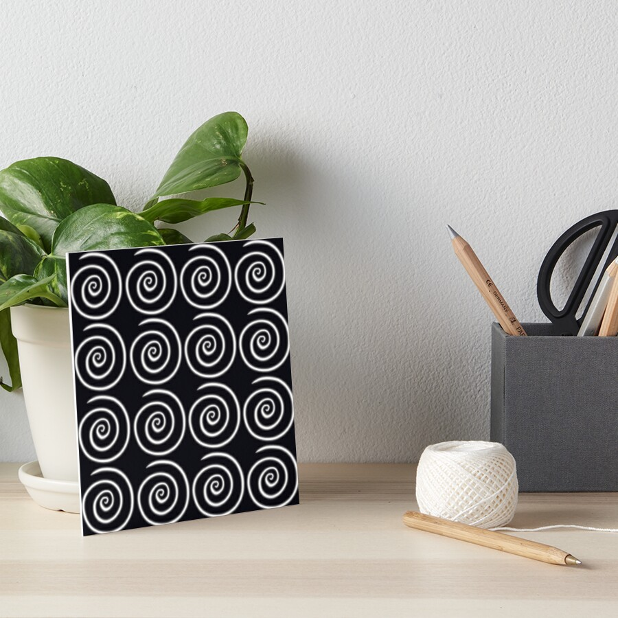 Black Swirls Art Board Print
