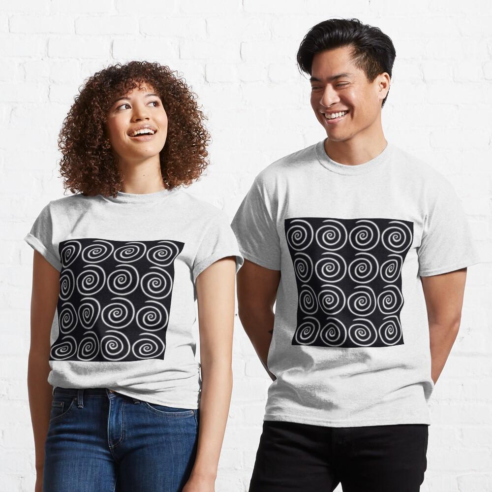 Black Swirls Classic T-Shirt
